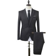 Men Cheap Slim Fit Business Leisure Formal Two-Piece Suit for Groom Wedding