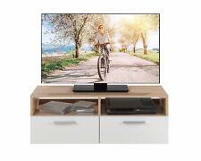 TV Schrank Lowboard TV Möbel Board Fernsehtisch Fernsehschrank Weiß Eiche Sonoma