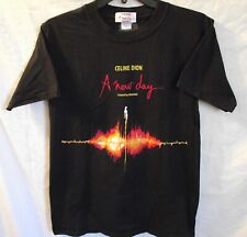 """New Vintage Celine Dion Black Size Small """"A New Day"""" Concert Tour Tee Shirt"""