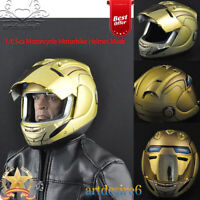 """1/6 Motorcycle Motorbike Helmet Mask Cover Model in Yellow For 12"""" Action Figure"""