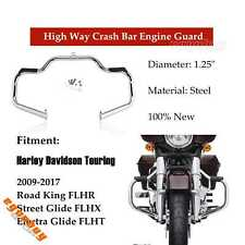 Motorcycle Chrome Highway Engine Guards For Harley Street Glide Road King 09-17