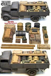 Value Gear #GOB01 1/35 WWII Opel Blitz & German Cargo Truck Load Set #1 (13pcs)
