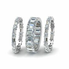 3 Piece Solid Baguette Diamond 925 Sterling Silver Ring RSG 373