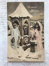 Christmas Fantasy Angels Children Toys Original Vintage Postcard