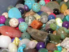 NEW 8/oz  Assorted Beads Mixed, Gemstone & SEMI-PRECIOUS NO JUNK 6-12mm (USA)