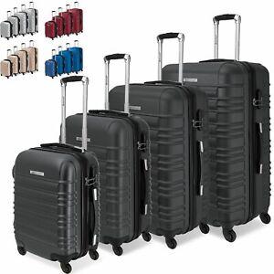 KESSER® 4er Reisekoffer Set Trolley Handgepäck Hartschalenkoffer Koffer S-M-L-XL