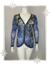 Gilet Cardigan Bleu Maille Tricotée  Soggo Collection Taille S / M
