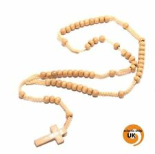 Markenlose Modeschmuck-Halsketten & -Anhänger aus Holz Kreuz