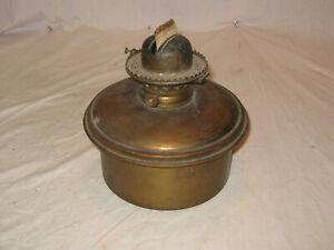 Rare Large Antique P&A Brass Oil Kerosene Lamp Burner Font