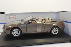 Maisto 31145 Bmw M6 Cabrio 2007 Metallic Bronze 1:18 PKW  NEU  mit OVP