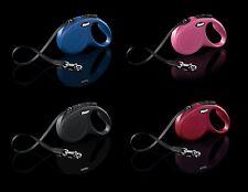 FLEXI New Classic Hundeleine Gurt Seil XS - L Flexileine Rollleine Automatik