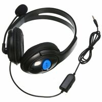 3.5mm Wired Gaming Stereo Headset Headphone with Mic for PlayStation 4 PS4  US