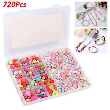 Girls Kids DIY Bracelet Arts Craft Make Own Beads JewelleryMaking Set Box Kit UK