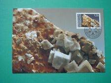 Liechtenstein Maximumkarten Nr. 92 Mineralien 1989 (3 Karten)