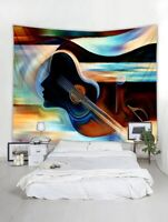 Guitar Painting Print Tapestry Wall Hanging Art Tapestries For Home Decoration
