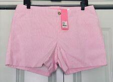 NWT Women's LILLY PULITZER 'Kelly Short' Size 10 Pink Tropics Seersucker