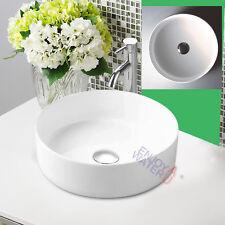 Round Slim Above counter Ceramic Basin Bathroom Vanity Gloss white sink