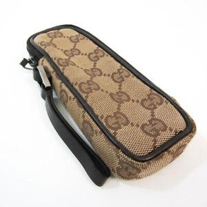 Gucci GG Canvas,Leather Pen Case (Beige,Dark Brown) Pencil case accesso BF528120