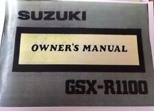 SUZUKI GSX 1100 OWNERS MANUAL CATALOGUE 1989 paper bound copy.