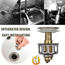 Kitchen Wash Basin Drain Filter Push-Type Bounce Core Universal Stainless Steel