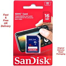 Sandisk 16Gb Sd Sdhc Memory Card Class 4 for Digital Camera Picture Hd Video New