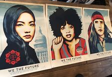 WE THE FUTURE Shepard Fairey Obey Giant Set of 3 Art Prints Signed X/450 18 X 24