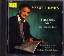 Peter Maxwell Davies Symphony No. 6 & time and the Raven CD Royal Philharmonic