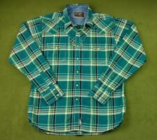 Mens Large WRANGLER Retro L/S Western Rodeo Cowboy Pearl Snap Shirt (#LS-015)