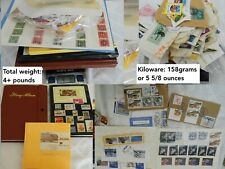 US Stamp Collection 3 Stock Book Albums 1900-2000s Used H NH +5 oz kiloware