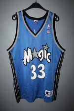 ORLANDO MAGIC JERSEY MENS 44 LARGE GRANT HILL CHAMPION WHITE BLUE NBA BASKETBALL