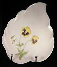 Royal Winton Pansies Pale Mauve Large Leaf-Shaped Footed Platter 1951+