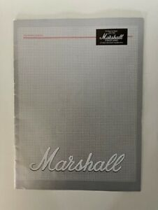 1987 Marshall Amp Amplifier Brochure Catalog 16 Page 25th Anniversary