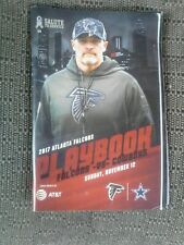 2017 Atlanta Falcons vs Dallas Cowboys Game Playbook Program Salute 2 Service