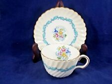 Minton ARDMORE (IVORY/TURQUOISE, S363) Cup & Saucer 2 1/4""