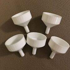 5 ct Small White Plastic Mini Funnels Fill Perfume Diffuser Bottles Liquids Oil