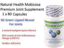 Natural Health Mobicosa 500mg 80 capsules ( NZ Green Lipped Mussel ) For Joints