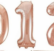 Rose Gold foil balloon number 1 No Helium Needed