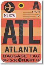 ATL - Atlanta Airport Baggage Tag - NEW Travel POSTER (tr479)