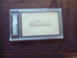 Eddie Hunter 1933 Cincinnati Reds encased autograph on index card d.1967