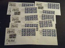 *10* Scott# C71a Booklet Pane 7cent Blue Jet - Artcraft Cachet UNaddressed FDCs