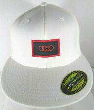 Audi Quattro Cup 2015 Flat Brim Hip Hop Style Hat Cap White 6-7/8 - 7-1/4 NWOT