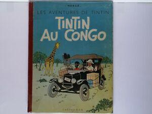 BD RARE Tintin Au Congo EO 1947 B1 BE+++