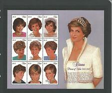 NEVIS 1997 Princess Diana Sheetlet SG 1127-1135 Unmounted Mint/MNH