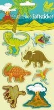 1 Bogen Leucht Sticker Dinosaurier Dino neu