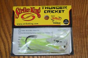 Strike King Thunder Cricket Vibrating Bladed Jig 1/2oz (Chartreuse Blue Glimmer)