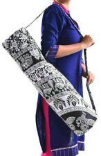 4 PC Ensemble Mandala Noir Blanc Omber Yoga Plage Exercice Porte Sac Avec Épaule