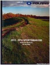 2012 2013 2014 Polaris Sportsman 850 Atv Service Manual : 9924866