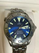 AUTH OMEGA WATCH SEAMASTER PRO DIVERS 300M TITANIUM 2231.80 BLUE DIAL 41MM F/S
