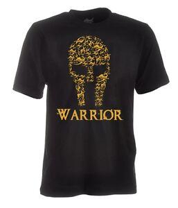 JU SPORTS SHIRT WARRIOR,100% Baumw. Boxen, Kickboxen, BJJ, MMA, Muay Thai,Ju Jut