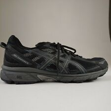 ASICS Gel-Venture 6 Mens Sz 11 Trail Running Shoe Black Gray T7G1N